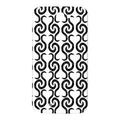 White and black elegant pattern Samsung Note 2 N7100 Hardshell Back Case
