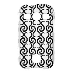 White and black elegant pattern Samsung Galaxy S7710 Xcover 2 Hardshell Case