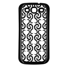 White and black elegant pattern Samsung Galaxy S3 Back Case (Black)