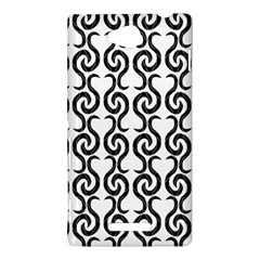 White and black elegant pattern Sony Xperia C (S39H)