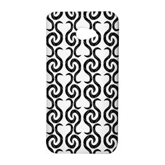 White and black elegant pattern HTC Butterfly S/HTC 9060 Hardshell Case