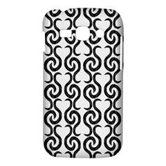 White and black elegant pattern Samsung Galaxy Ace 3 S7272 Hardshell Case