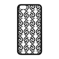 White and black elegant pattern Apple iPhone 5C Seamless Case (Black)
