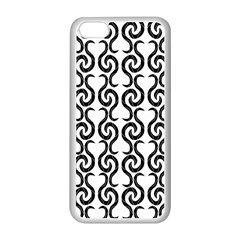 White and black elegant pattern Apple iPhone 5C Seamless Case (White)