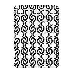 White and black elegant pattern Samsung Galaxy Note 10.1 (P600) Hardshell Case