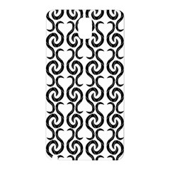White and black elegant pattern Samsung Galaxy Note 3 N9005 Hardshell Back Case