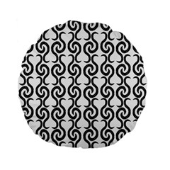 White and black elegant pattern Standard 15  Premium Flano Round Cushions