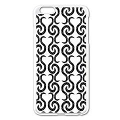 White and black elegant pattern Apple iPhone 6 Plus/6S Plus Enamel White Case