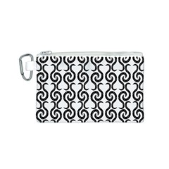 White and black elegant pattern Canvas Cosmetic Bag (S)