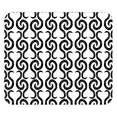 White and black elegant pattern Double Sided Flano Blanket (Small)