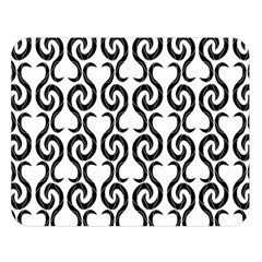 White and black elegant pattern Double Sided Flano Blanket (Large)