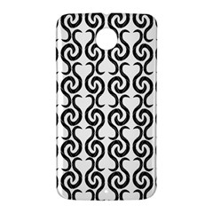 White and black elegant pattern Nexus 6 Case (White)