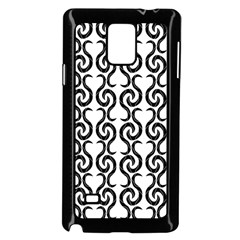 White and black elegant pattern Samsung Galaxy Note 4 Case (Black)