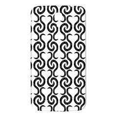 White and black elegant pattern Samsung Galaxy Mega I9200 Hardshell Back Case