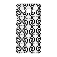 White and black elegant pattern Samsung Galaxy A5 Hardshell Case