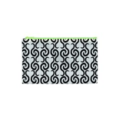 White and black elegant pattern Cosmetic Bag (XS)
