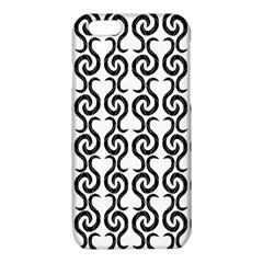 White and black elegant pattern iPhone 6/6S TPU Case