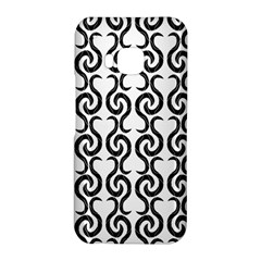 White and black elegant pattern HTC One M9 Hardshell Case