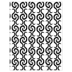 White and black elegant pattern Drawstring Bag (Large)