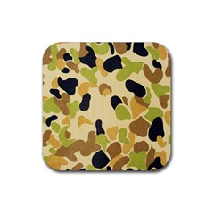 Camouflage Pattern Army Rubber Coaster (Square)