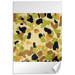 Camouflage Pattern Army Canvas 24  x 36