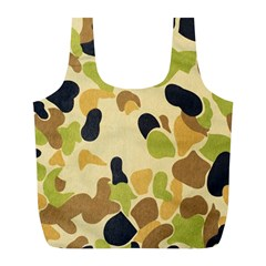 Camouflage Pattern Army Full Print Recycle Bags (L)