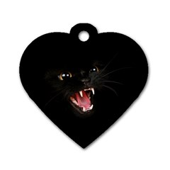 Cat Animal Cute Dog Tag Heart (One Side)