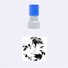 Coloorfull Leave Rubber Round Stamps (Small)