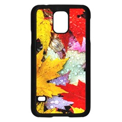 Coloorfull Leave Samsung Galaxy S5 Case (Black)