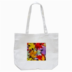 Coloorfull Leave Tote Bag (White)