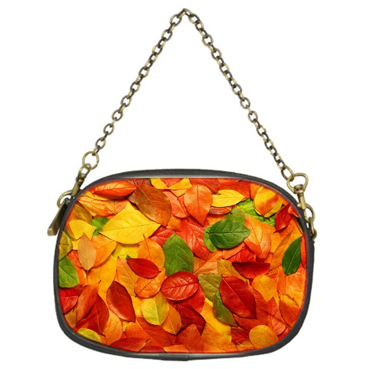 Colorful Fall Leaves Chain Purses (One Side)