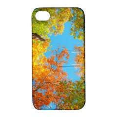 Colorful Leaves Sky Apple iPhone 4/4S Hardshell Case with Stand