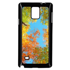 Colorful Leaves Sky Samsung Galaxy Note 4 Case (Black)
