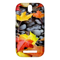 Colorful Leaves Stones HTC One SV Hardshell Case
