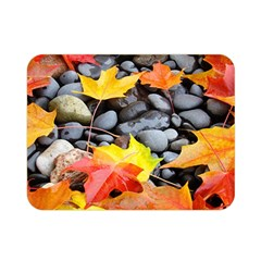 Colorful Leaves Stones Double Sided Flano Blanket (Mini)
