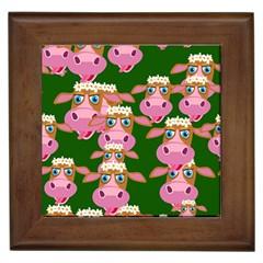 Cow Pattern Framed Tiles