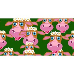 Cow Pattern You Are Invited 3d Greeting Card (8x4)