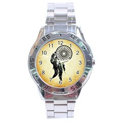 Dream Catcher Stainless Steel Analogue Watch