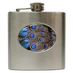 Feathers Peacock Light Hip Flask (6 oz)