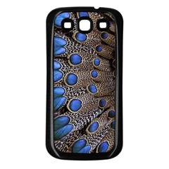 Feathers Peacock Light Samsung Galaxy S3 Back Case (Black)