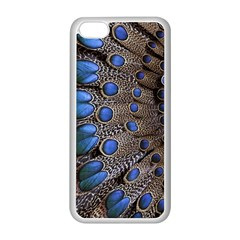 Feathers Peacock Light Apple iPhone 5C Seamless Case (White)
