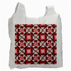 Floral Optical Illusion Recycle Bag (One Side)