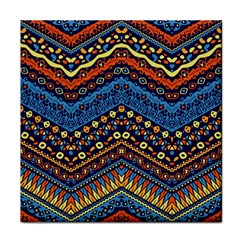 Cute Hand Drawn Ethnic Pattern Tile Coasters