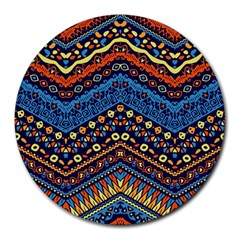 Cute Hand Drawn Ethnic Pattern Round Mousepads