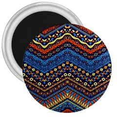 Cute Hand Drawn Ethnic Pattern 3  Magnets