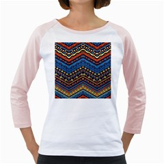 Cute Hand Drawn Ethnic Pattern Girly Raglans