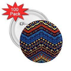 Cute Hand Drawn Ethnic Pattern 2.25  Buttons (100 pack)