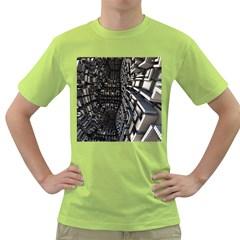 Fractal Art Pattern Green T-Shirt
