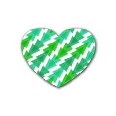 Geometric Art Pattern Rubber Coaster (Heart)