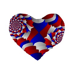 Happy Memorial Day Standard 16  Premium Flano Heart Shape Cushions